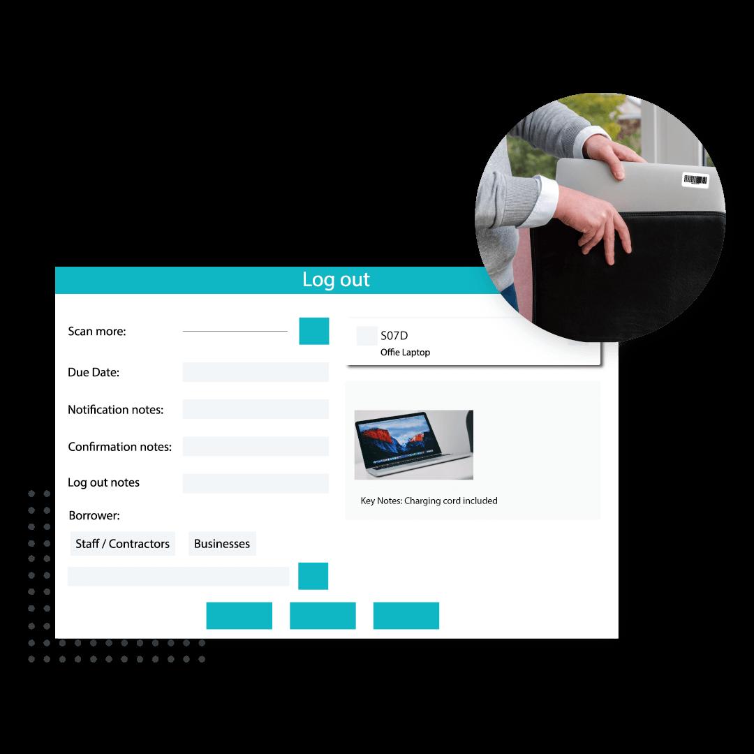 Assets Module on Logitout dashboard